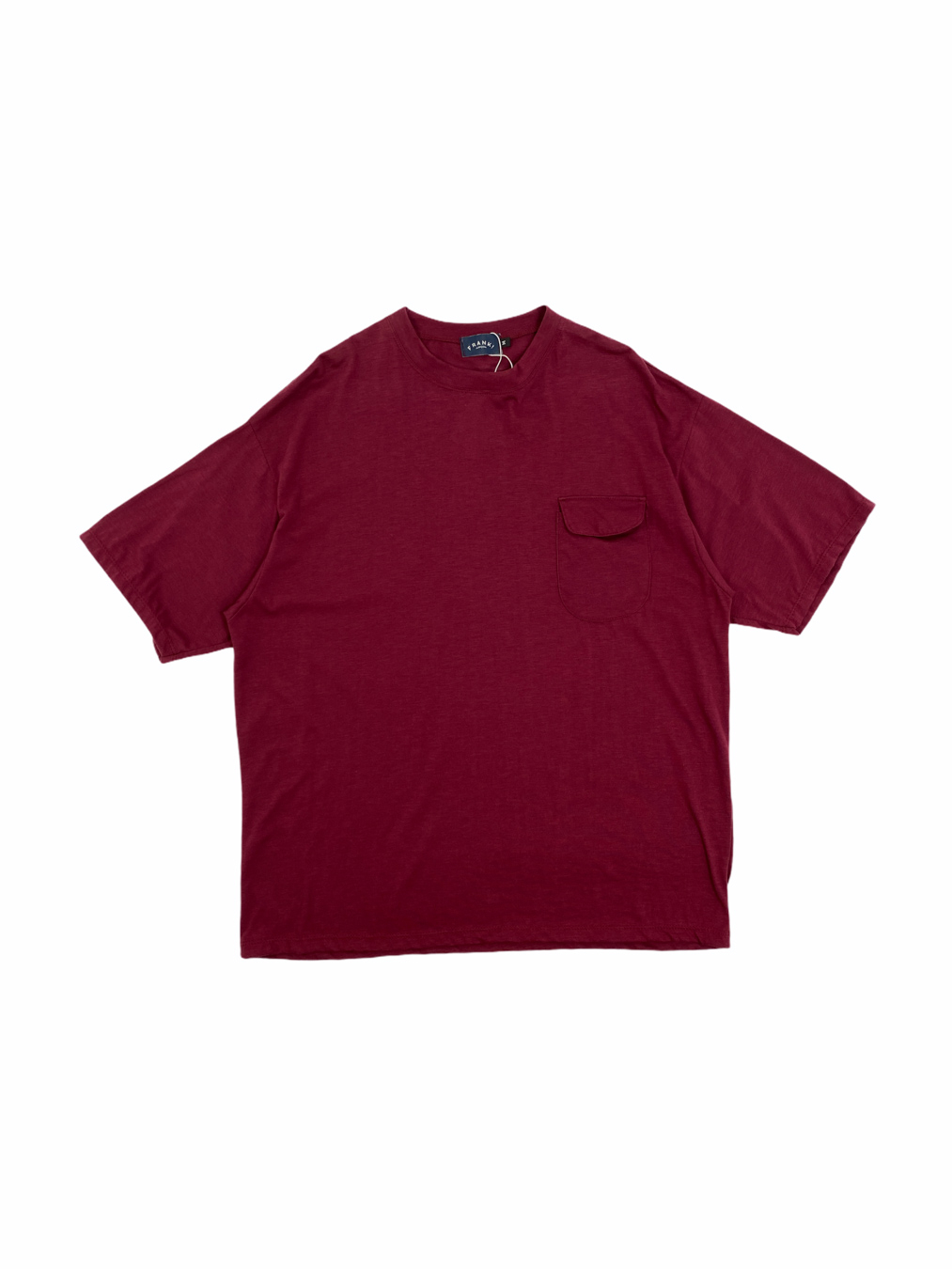New Round Pocket Tee (Red)