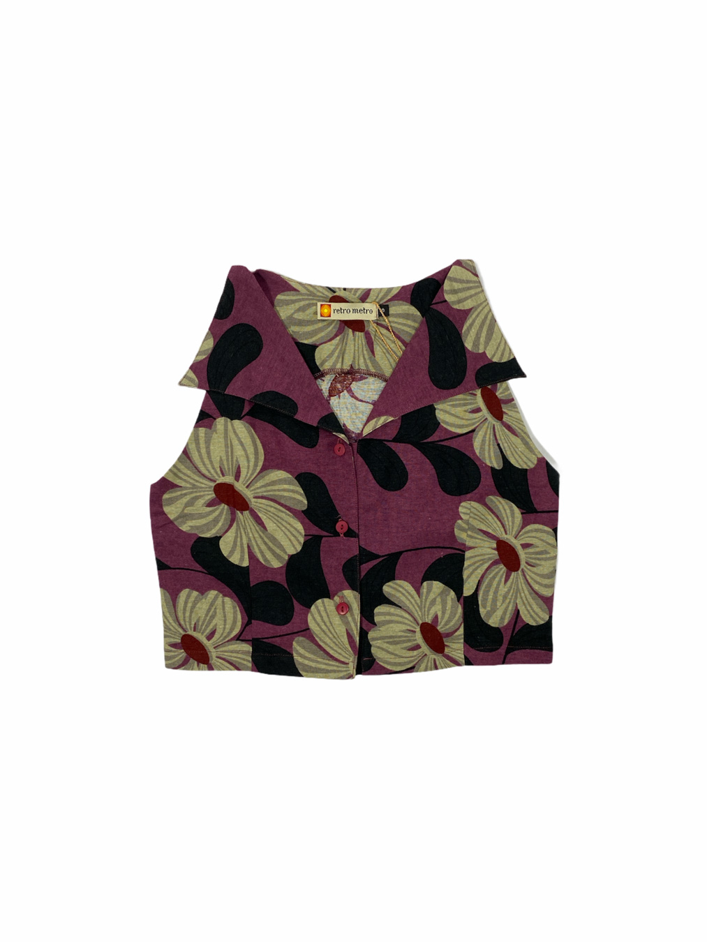 Daphne Top in Purple floral