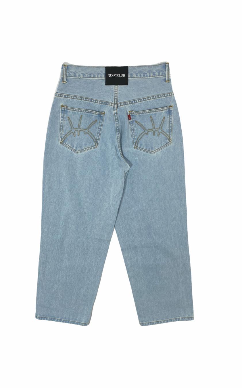 Uxry Baggy Jeans (Light Blue)